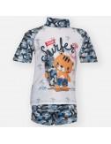 Tortoue Παιδικό Μαγιό με Αντηλιακό Μπλουζάκη S1-118-310 Lamoda.gr