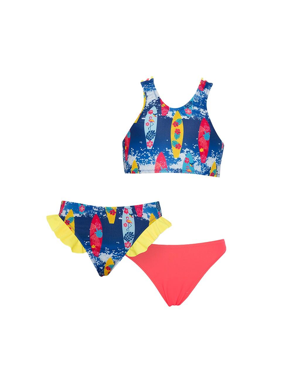 Tortue Παιδικό / Εφηβικό Μαγιό Bikini με 2 Slip S1-042-123 Lamoda.gr