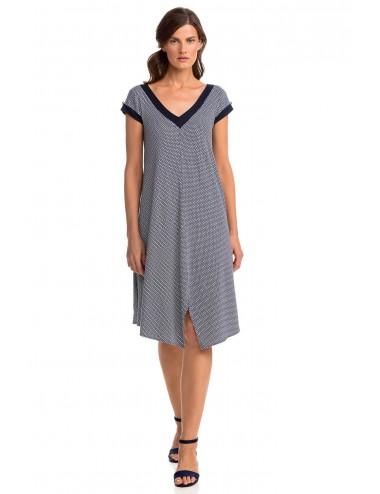 Καλοκαιρινό Φόρεμα Κοντομάνικο Viscose Vamp 14456 Lamoda.gr